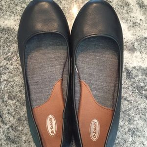 Dr. Scholl's black leather 8.5
